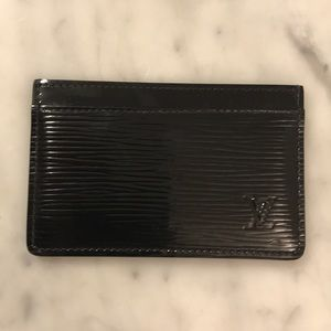 LOUIS VUITTON Noir Epi Card Holder - NWOT